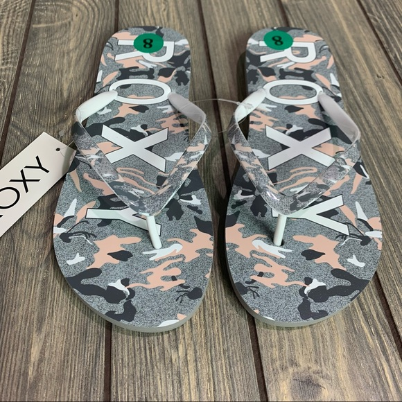 Roxy Simba Love V Flip Flops Sandals Size 8 NEW